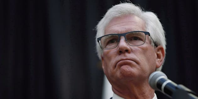 International Trade Minister JimCarr speaks during a press conference in Winnipeg on Oct. 23, 2018.