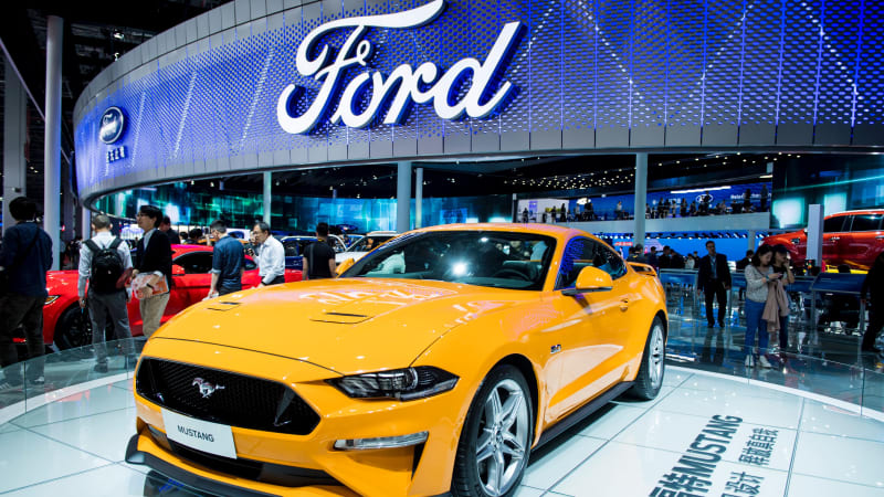 the-new-ford-mustang-is-displayed-during