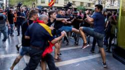 Un grupo de ultras revienta una protesta de izquierdas y nacionalista en
