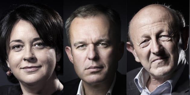 Sylvia Pinel, François de Rugy et Jean-Luc Bennahmias, candidats à la primaire de la gauche