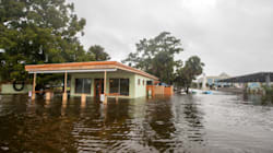 FOTOS: Los primeros estragos del monstruoso huracán Michael en