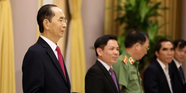 Le président vietnamien Tran Dai Quang (à gauche).
