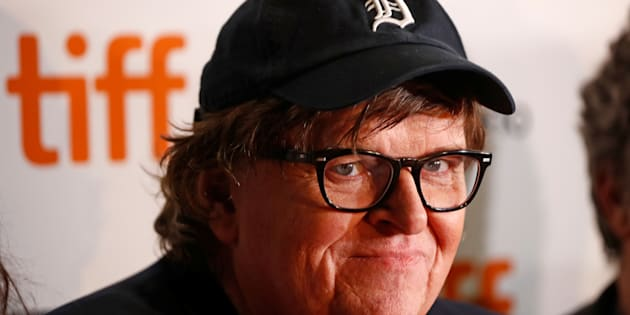 Michael Moore arrives for the world premiere of 'Fahrenheit 11/9' at TIFF on September 6, 2018.