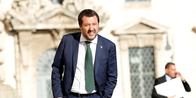 Italy's Interior Minister Matteo Salvini arrives for gala dinner at the Quirinal palace in Rome, Italy, June 1, 2018.  REUTERS/Remo Casilli