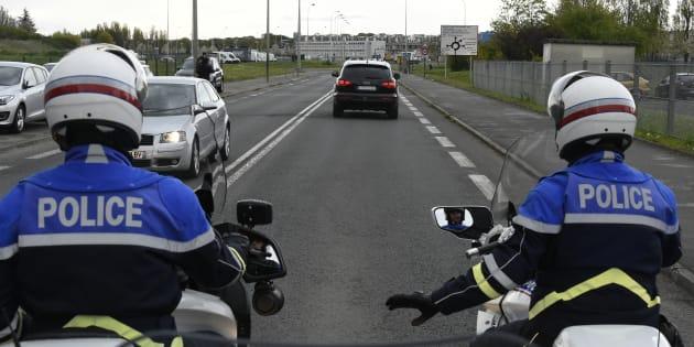 Un convoi policier transportant Salah Abdeslam à Fleury-Mérogis en avril 2016.