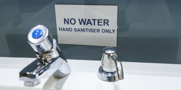 Cape Town is experiencing severe drought many public buildings and Shopping Malls have cut water supplies to reduce water usage, on April 03, 2018 in Cape Town, South Africa.