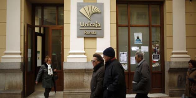Una oficina de Unicaja en Ronda, Málaga, en una foto de archivo.