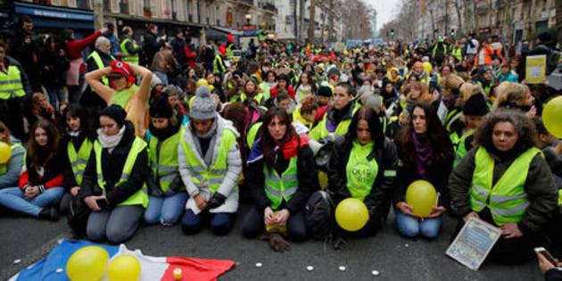 Imagen de archivo de una protesta de los 'chalecos amarillos' en Francia.