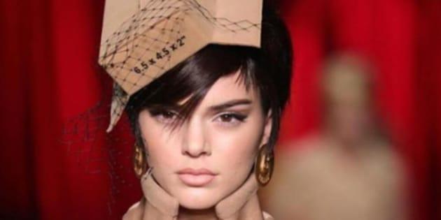 Kendall Jenner a ouvert le défilé de la maison Moschino à l'occasion de la Fashion Week de Milan.