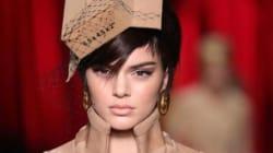 La tenue en carton de Kendall Jenner pour la Fashion Week de