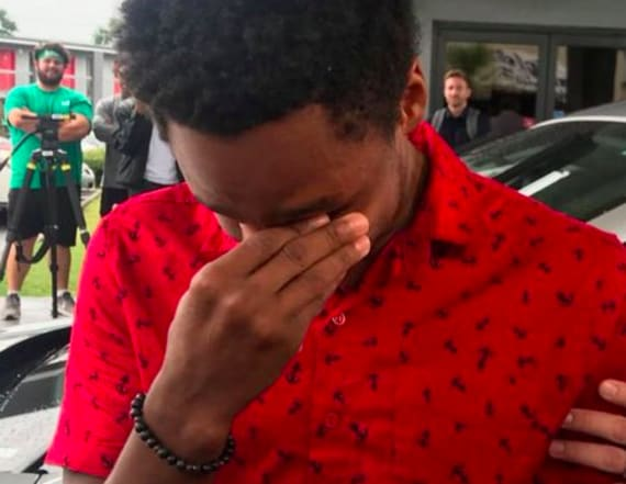Student who walked 20 miles to job gets car