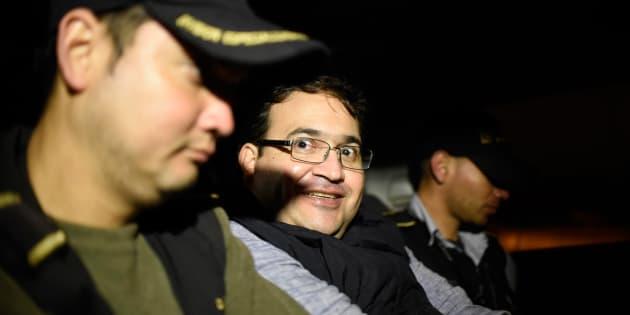 Javier Duarte, al ser detenido en Guatemala.