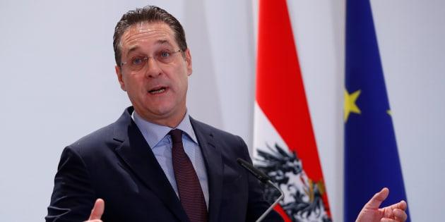Heinz-Christian Strache à Vienne le 4 décembre 2018.   REUTERS/Leonhard Foeger