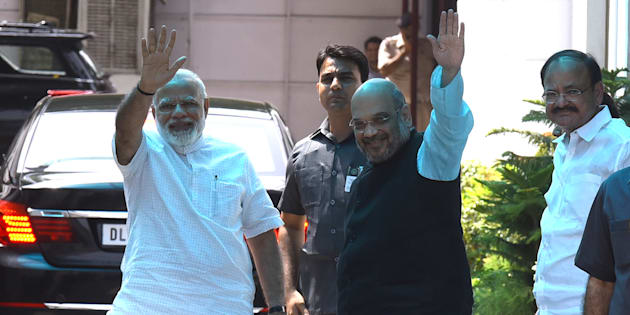 NEW Prime Minister Narendra Modi and BJP National President Amit Shah.