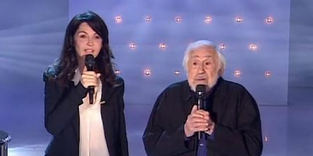 Zabou Breitman et son père Jean-Claude Deret dans Vivement Dimanche sur France 2.