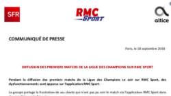 RMC Sport s'excuse après les nombreux bugs survenus pendant