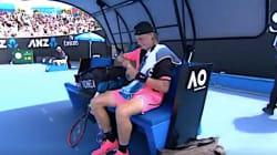Tennis Player At Australian Open Can't Peel The Damn