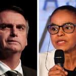 Com pouco tempo de TV, Bolsonaro e Marina apostam na mesma