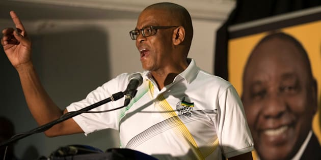 African National Congress Secretary General Ace Magashule speaks during an African National Congress Youth League rally in Pietermaritzburg, South Africa, January 28, 2018.