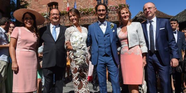 François Hollande et Ségolène Royal au mariage de leur fils Thomas Hollande  en Corrèze