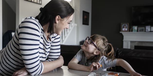 Hailey Hague and her daughter Lily in their home in Edmonton on April 3. As a baby, Lily went into liver failure and was given three months to live.