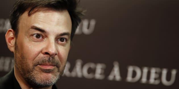 """Le réalisateur François Ozon lors de l'avant-première du film """"Grâce à Dieu"""" à Paris, le 18 février 2019."""