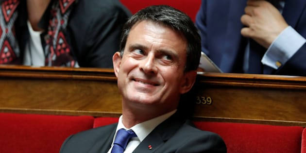 Le député Manuel Valls après sa réélection en juin 2017.