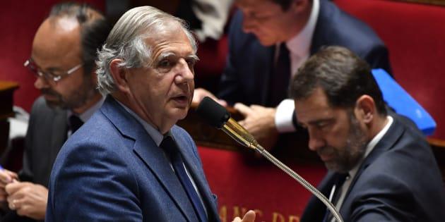 Le ministre Jacques Mézard à l'Assemblée nationale le 22 mai