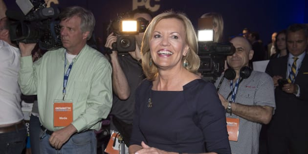 Ontario Progressive Conservative party leadership candidate Christine Elliott attends the PC party leadership vote in Toronto on May 9, 2015.