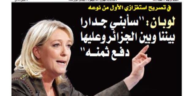 Un journal algérien prend au sérieux un canular du Gorafi sur Marine Le Pen et en fait sa Une