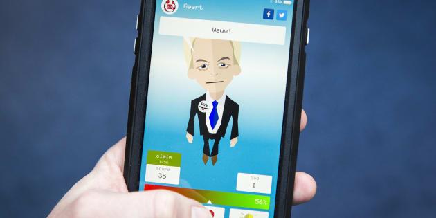 """L'application mobile """"Kamergotchi"""" propose de s'occuper, entre autres, du candidat d'extrême droite Geert Wilders."""