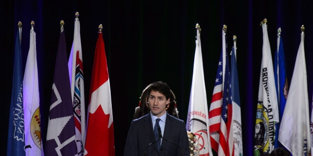 PM Trudeau addresses the Assembly of First Nations Special Chiefs Assembly in Ottawa on Dec. 4, 2018.