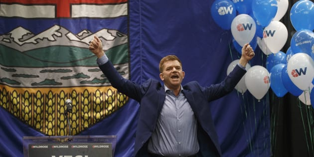 Wildrose leader Brian Jean celebrates the yes vote at a special general meeting in Red Deer Alta, on  July 22, 2017.