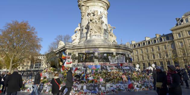 La Place de la République à Paris, le 26 novembre 2015.