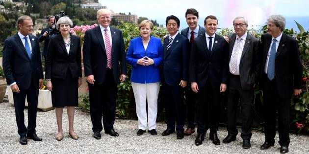 Les leaders du G7 lors du sommet de Taormina, en Italie, le 26 mai, 2017.