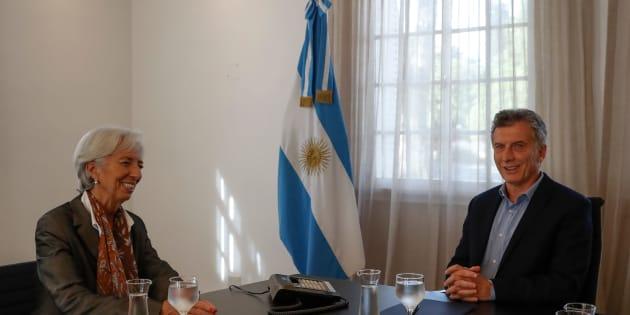 El presidente de Argentina, Mauricio Macri, y la directora gerente del FMI, Christine Lagarde, en Buenos Aires.