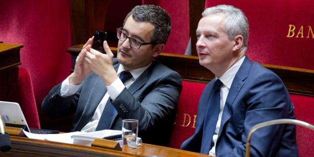 Le ministre du Budget Gérald Darmanin et celui de l'Economie Bruno Le Maire.