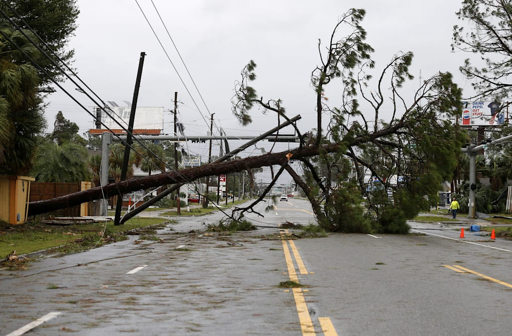 Catching some hell\': Hurricane Michael slams into Florida - AOL Weather