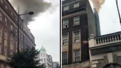 Incendio in centro a Londra, vigili del fuoco al