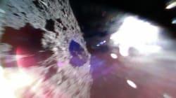 Cette photo a été prise par un micro-robot juste après s'être posé sur l'astéroïde