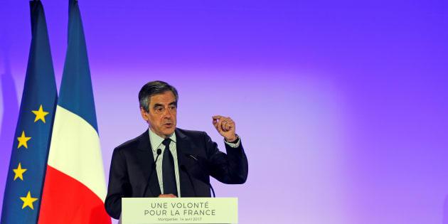 François Fillon à Montpellier le 14 avril 2017.