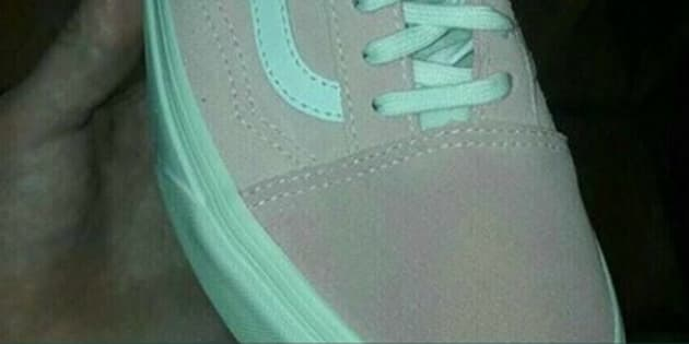 Okay Is The Shoe Pink And White Or Blue Grey