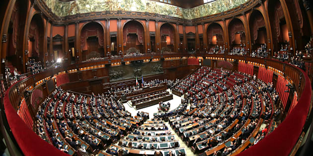 ROME, ITALY - MARCH 24: A general view of Italian Chamber of Deputies during the voting for the new president of Italy's Chamber of Deputies at Palazzo Montecitorio on March 24, 2018 in Rome, Italy.  (Photo by Franco Origlia/Getty Images)