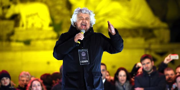 ROME, ITALY - MARCH 01:  Five Star Movement's founder Beppe Grillo attends the closing electoral rally of Five Star Movement at Piazza del Popolo on March 2, 2018 in Rome, Italy. The Italian General Election takes place on March 4th 2018.  (Photo by Franco Origlia/Getty Images)