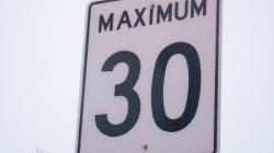 Rosemont abaissera les limites de vitesse sur deux grandes