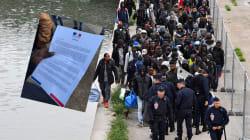 Cette lettre a été distribuée pendant l'évacuation du plus gros campement de migrants de