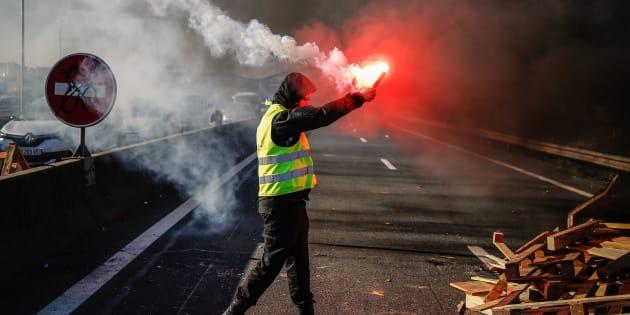 Un manifestant a été percuté par un camion alors qu'il participait à un barrage, à Saint-Dizier, en Haute-Marne (Photo d'illustration prise à Caen, le 18 novembre).
