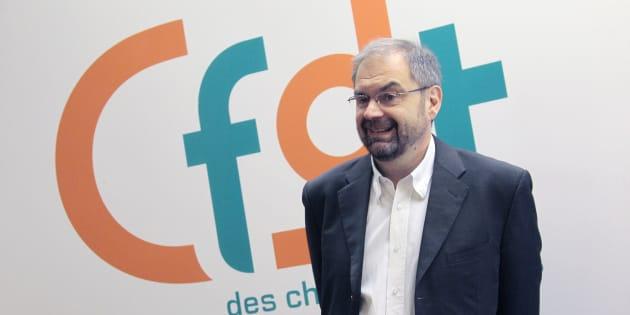 François Chérèque au siège de la CFDT, le 16 avril 2010.