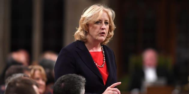 Conservative MP Lisa Raitt speaks in the House of Commons on Nov. 23, 2017.