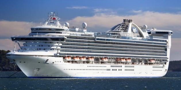 Le navire «Caribbean Princess» en 2013.